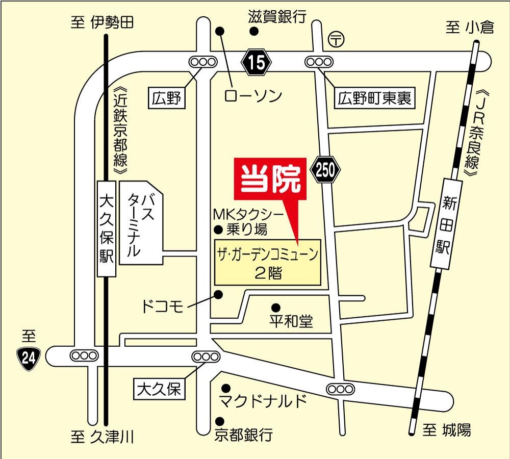 なかうち泌尿器科クリニック地図